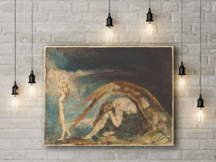William Blake: Dream of Thiralatha. Mythological Fine Art Canvas.